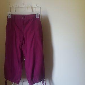 Ann Taylor Loft Light Purple Capri  Cargo Pants